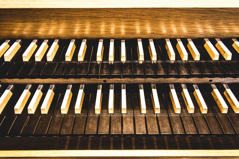 Klaviatur der Pesterwitzer Wünning Orgel